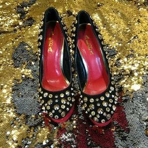 d95408737a1 Alba Shoes - Leopard print red bottom Spike heels